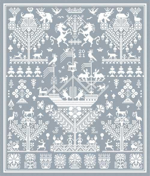 Long Dog Samplers High & Dry printed cross stitch chart - LD111