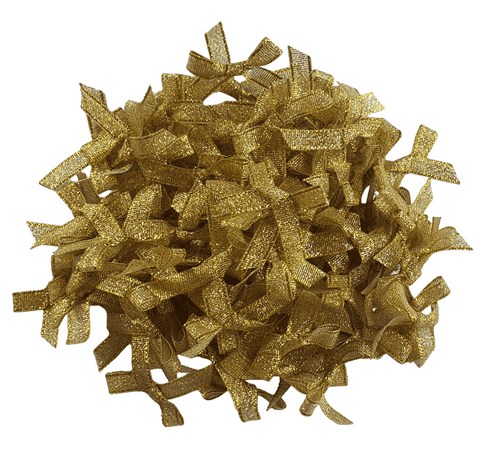 Lurex Bows 7mm x 10 - Gold