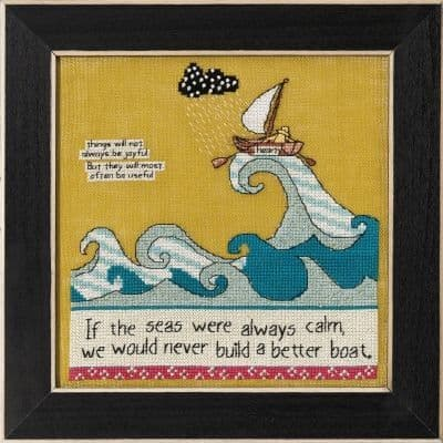 Mill Hill A Better Boat Curly Girl beaded cross stitch kit