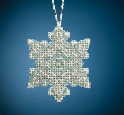 Mill Hill Aqua Mist Snowflake beaded cross stitch kit