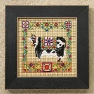 Mill Hill Clarissa Cow beaded cross stitch kit