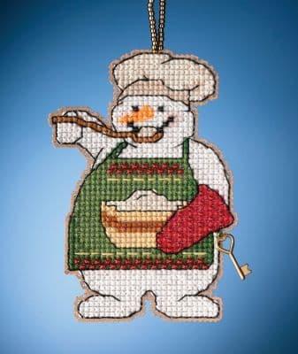Mill Hill Cooking Snowman beaded cross stitch kit