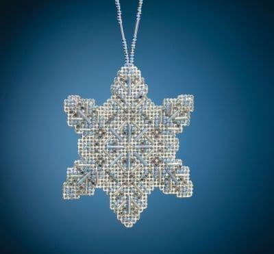Mill Hill Crystal Snowflake beaded cross stitch kit