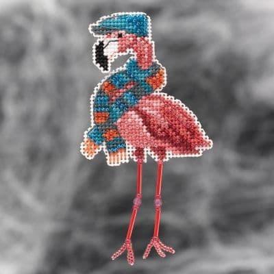 Mill Hill Fall Flamingo beaded cross stitch kit