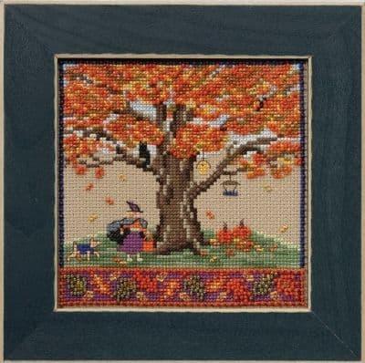 Mill Hill Fall Oak beaded cross stitch kit
