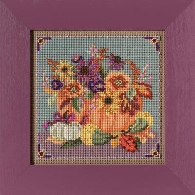 Mill Hill Floral Pumpkin beaded cross stitch kit