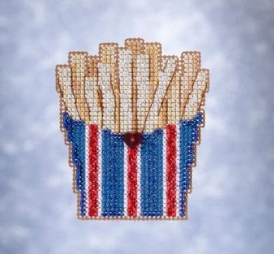 Mill Hill French Fries beaded cross stitch kit