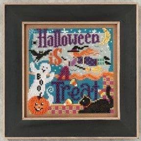 Mill Hill Halloween is a Treat beaded cross stitch kit