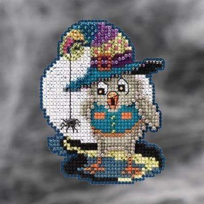 Mill Hill Halloween Owl beaded cross stitch kit