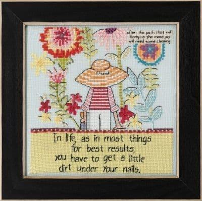 Mill Hill Little Dirt Curly Girl beaded cross stitch kit