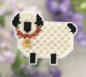 Mill Hill Little Lamb beaded cross stitch kit