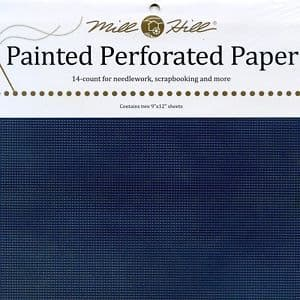 Mill Hill Midnight Blue Painted Perforated Paper