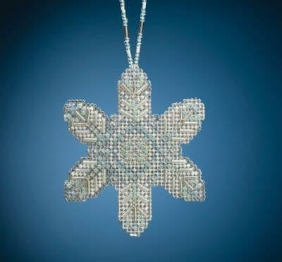 Mill Hill Opal Ice Snowflake beaded cross stitch kit