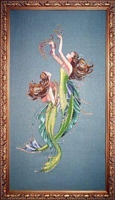 Mirabilia Mermaids of the Deep Blue printed cross stitch chart