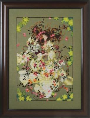 Mirabilia Ophelia printed cross stitch chart