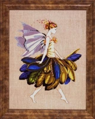 Mirabilia The Feather Fairy printed cross stitch chart