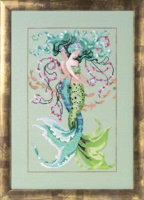Mirabilia Twisted Mermaids printed cross stitch chart