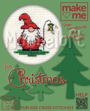Mouseloft Christmas Gnome Make Me for Christmas cross stitch kit