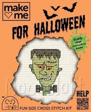 Mouseloft Frankie Make Me for Halloween cross stitch kit