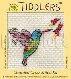 Mouseloft Little Hummingbird Tiddlers cross stitch kit