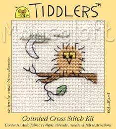 Mouseloft Owl Tiddlers cross stitch kit