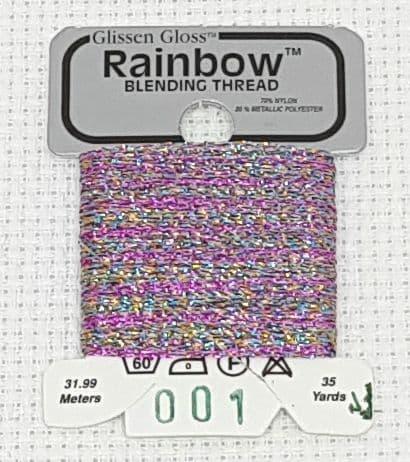 Multi White GlissenGloss Rainbow Thread 275 / R001