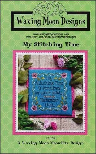 My Stitching Time by Waxing Moon Designs printed cross stitch chart