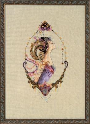 Nora Corbett Aries - Zodiac printed cross stitch chart