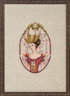Nora Corbett Cancer - Zodiac printed cross stitch chart