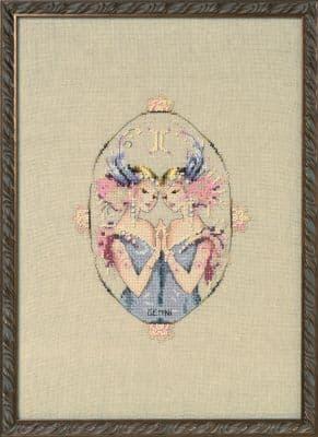 Nora Corbett Gemini - Zodiac printed cross stitch chart