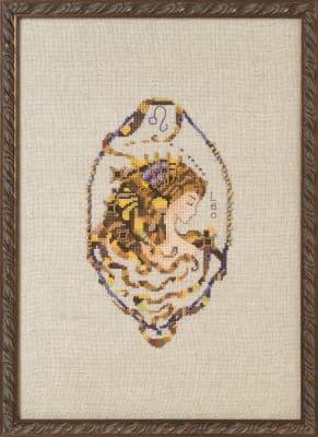 Nora Corbett Leo - Zodiac printed cross stitch chart
