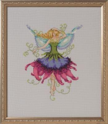 Nora Corbett Passion Flower Bridesmaid printed cross stitch chart