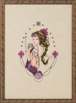 Nora Corbett Scorpio - Zodiac printed cross stitch chart