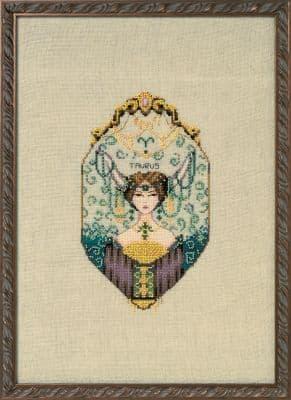 Nora Corbett Taurus - Zodiac printed cross stitch chart