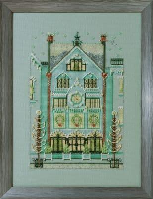 Nora Corbett The Clockmaker's House printed cross stitch chart