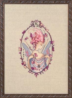 Nora Corbett Virgo - Zodiac printed cross stitch chart