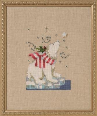 Nora Corbett Winter Bear printed cross stitch chart