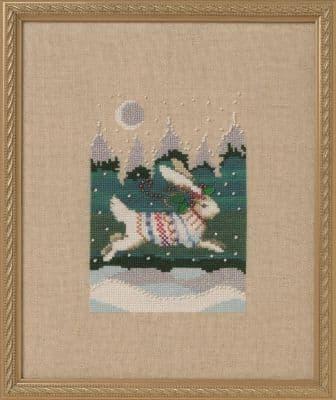 Nora Corbett Winter Hare printed cross stitch chart