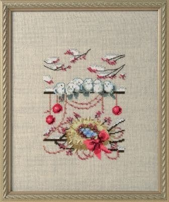 Nora Corbett Winter Nest printed cross stitch chart