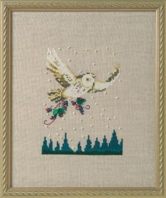 Nora Corbett Winter Owl printed cross stitch chart