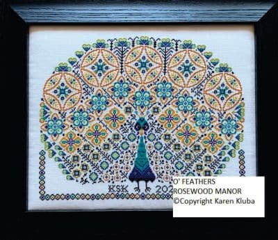 O'Feathers Rosewood Manor cross stitch booklet