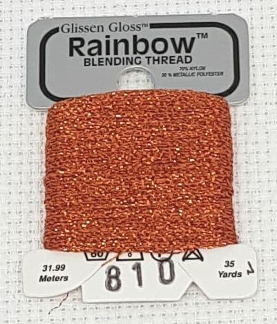 Orange GlissenGloss Rainbow Thread 27 / R810
