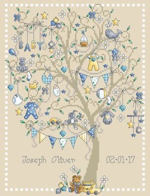 Shannon Christine Designs Baby Boy Tree cross stitch chart