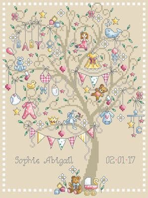 Shannon Christine Designs Baby Girl Tree cross stitch chart