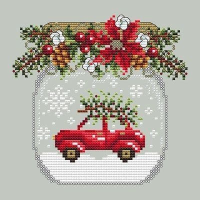 Shannon Christine Designs Car Snow Globe cross stitch chart