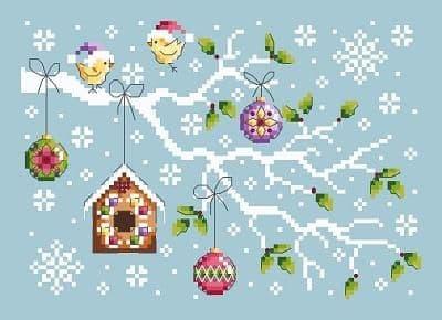 Shannon Christine Designs Christmas Branch cross stitch chart