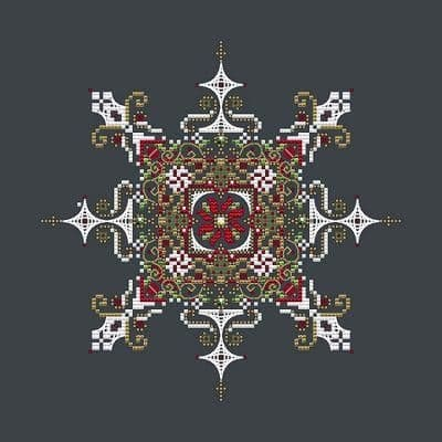 Shannon Christine Designs Christmas Snowflake cross stitch chart