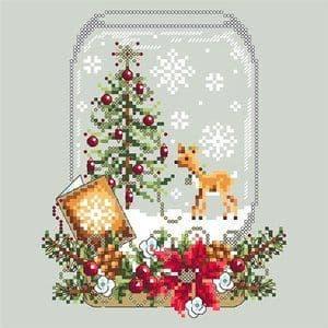 Shannon Christine Designs Deer Snow Globe cross stitch chart