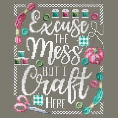 Shannon Christine Designs Excuse the Mess cross stitch chart