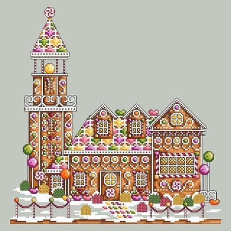 Shannon Christine Designs Gingerbread Lighthouse cross stitch chart